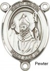 St. David of Wales Rosary Centerpiece Sterling Silver or Pewter