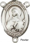 St. Dorothy Rosary Centerpiece Sterling Silver or Pewter