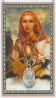 St. Dymphna Medal with Prayer Card