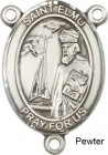 St. Elmo Rosary Centerpiece Sterling Silver or Pewter