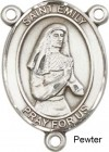 St. Emily De Vialar Rosary Centerpiece Sterling Silver or Pewter