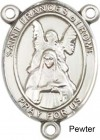 St. Frances of Rome Rosary Centerpiece Sterling Silver or Pewter