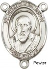 St. Francis De Sales Rosary Centerpiece Sterling Silver or Pewter