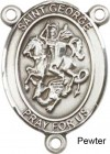 St. George Rosary Centerpiece Sterling Silver or Pewter
