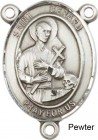 St. Gerard Rosary Centerpiece Sterling Silver or Pewter