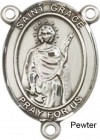 St. Grace Rosary Centerpiece Sterling Silver or Pewter