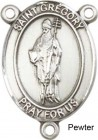 St. Gregory the Great Rosary Centerpiece Sterling Silver or Pewter