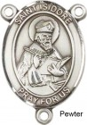 St. Isidore of Seville Rosary Centerpiece Sterling Silver or Pewter
