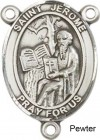 St. Jerome Rosary Centerpiece Sterling Silver or Pewter