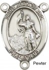 St. Joan of Arc Rosary Centerpiece Sterling Silver or Pewter