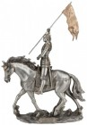 St. Joan of Arc Statue, Pewter Finish - 11 Inches