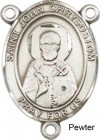 St. John Chrysostom Rosary Centerpiece Sterling Silver or Pewter