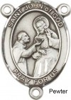 St. John of God Rosary Centerpiece Sterling Silver or Pewter