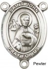 St. John the Apostle Rosary Centerpiece Sterling Silver or Pewter