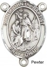 St. John the Baptist Rosary Centerpiece Sterling Silver or Pewter