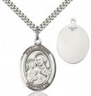 Oval Sterling Silver St. Joseph Medal