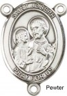 St. Joseph Rosary Centerpiece Sterling Silver or Pewter
