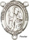 St. Joseph of Arimathea Rosary Centerpiece Sterling Silver or Pewter