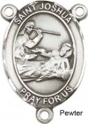 St. Joshua Rosary Centerpiece Sterling Silver or Pewter