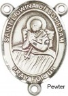 St. Lidwina of Schiedam Rosary Centerpiece Sterling Silver or Pewter