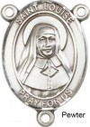 St. Louise De Marillac Rosary Centerpiece Sterling Silver or Pewter