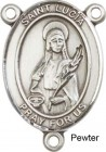 St. Lucia of Syracuse Rosary Centerpiece Sterling Silver or Pewter