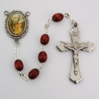 St. Luke Brown Wood Rosary