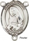 St. Madeline Sophie Barat Rosary Centerpiece Sterling Silver or Pewter