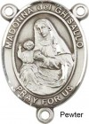 St. Madonna Del Ghisallo Rosary Centerpiece Sterling Silver or Pewter