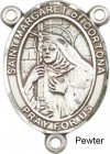 St. Margaret of Cortona Rosary Centerpiece Sterling Silver or Pewter
