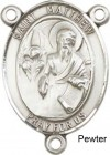 St. Matthew the Apostle Rosary Centerpiece Sterling Silver or Pewter