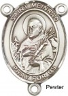 St. Meinrad of Einsideln Rosary Centerpiece Sterling Silver or Pewter
