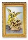 St. Michael Antique Gold Framed Print