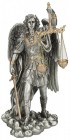St. Michael Justice Statue, Pewter Tone, 11 inches