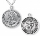 St. Michael Marine Medal Sterling Silver
