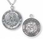 St. Michael Navy Medal Sterling Silver