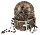 St. Michael Rosary and Keepsake Box Set