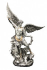 St. Michael Statue, Silver Gold - 10 inches