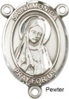 St. Monica Rosary Centerpiece Sterling Silver or Pewter