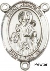 St. Nicholas Rosary Centerpiece Sterling Silver or Pewter