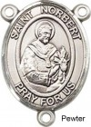 St. Norbert Rosary Centerpiece Sterling Silver or Pewter