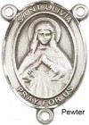 St. Olivia Rosary Centerpiece Sterling Silver or Pewter