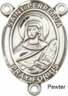 St. Perpetua Rosary Centerpiece Sterling Silver or Pewter