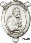 St. Peter the Apostle Rosary Centerpiece Sterling Silver or Pewter