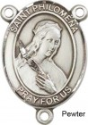 St. Philomena Rosary Centerpiece Sterling Silver or Pewter