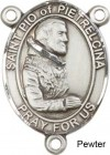 St. Pio of Pietrelcina Rosary Centerpiece Sterling Silver or Pewter