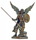 St. Raphael Statue, Bronzed Resin Finish - 9 inches