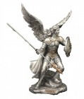 St. Raphael Statue, Silver Gold - 9 inches