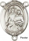 St. Raphael the Archangel Rosary Centerpiece Sterling Silver or Pewter