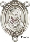 St. Rebecca Rosary Centerpiece Sterling Silver or Pewter